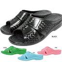 レディース サンダル 靴 黒 ピンク 水色 青 緑 ブラック サックス グリーン ベランダ トイレ 庭 無地 シンプル softline 1333