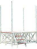 【ポイント10倍】 【代引不可】 ナカオ (NAKAO) アルミ製ステージ 舞台(ステージ) TSF-B (受注生産品) 【大型】
