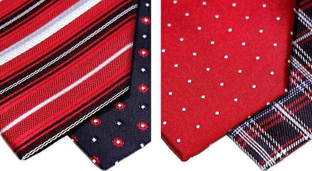パワフルで積極的 赤 ネクタイ シルク 日本製...の紹介画像2