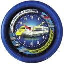 SR-WC16001BL ダブルトレイン新幹線クロック SRA SRWC16001BL ブルー 壁掛け時計 壁掛時計 壁かけ時計