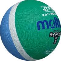 モルテン molten 軽く当たっても衝撃が低いので、ボールを怖がらず楽しめます。 ライトドッジ SLD2MSK 緑×サックス[メール便不可]の画像