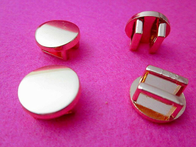 アクセサリーパーツ 帯留め 丸 金 ゴールド 15mm 5個
