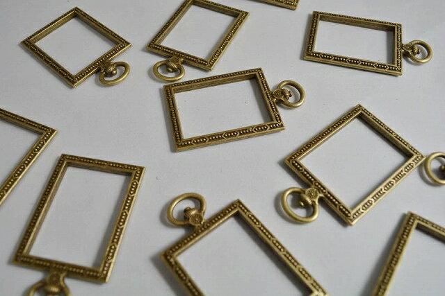 アクセサリーパーツ レジン枠 長方形 デザイン...の紹介画像3