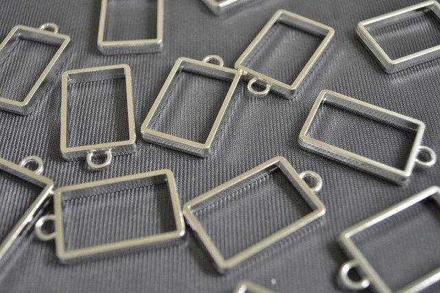 アクセサリーパーツ レジン枠 長方形 シンプル ...の商品画像