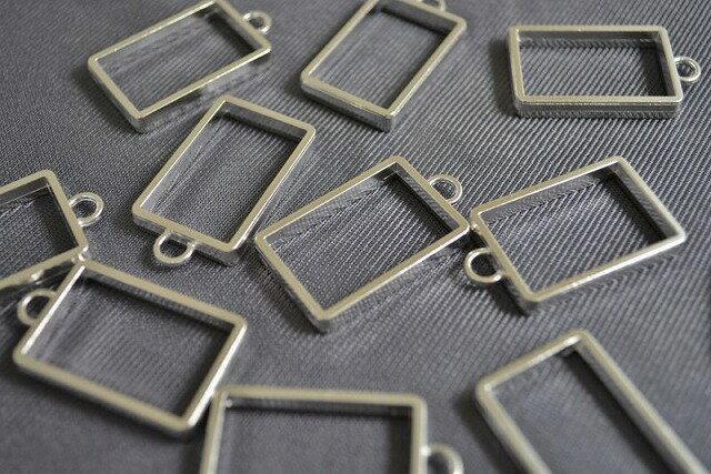 アクセサリーパーツ レジン枠 長方形 シンプル...の紹介画像2