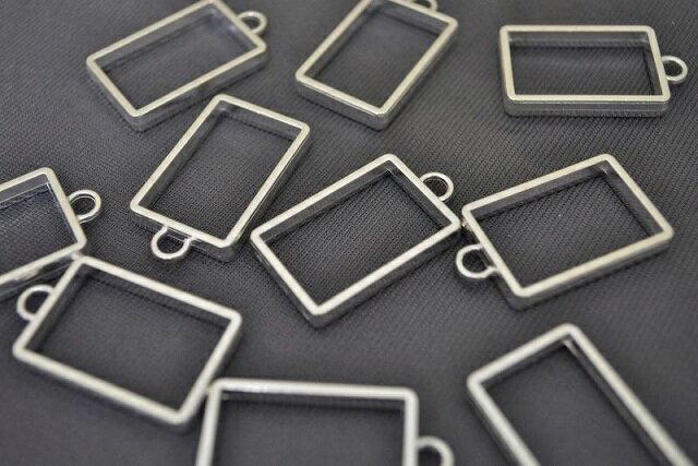 アクセサリーパーツ レジン枠 長方形 シンプル...の紹介画像3