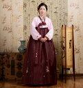 新色入荷!【送料無料】 韓国民族衣装 チマチョゴリ 薄ピンク×小豆色 5002-20 P20Aug16●