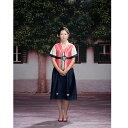 ショッピング韓流 韓国民族衣装 ショート丈 チョゴリ 格安 販売 フリーサイズ オレンジ×紺 5006 P20Aug16