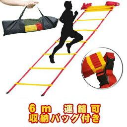 トレーニングラダー 6m トレーニング用品 野球 陸上 <strong>ラグビー</strong> アジリティー サッカー フットサル 練習器具 部活