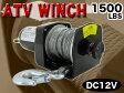 電動ウィンチ 最大牽引力680Kgまで対応 DC12Vバッテリー ウィンチSL1500-1【あす楽対応】