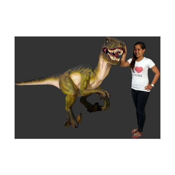 長さ342cm!ドロマエオサウルス 等身大フィギュア(恐竜等身大フィギュア)