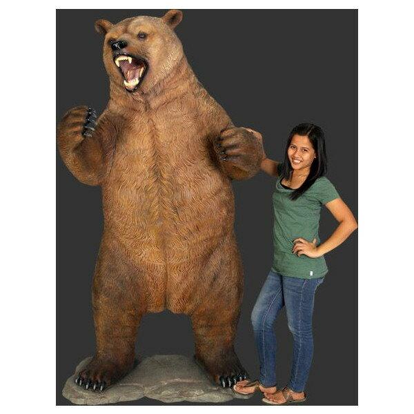 アニマルビッグフィギュアシリーズ【クマ(熊)・グリズリー(全長210cm)】(等身大フィギュア)