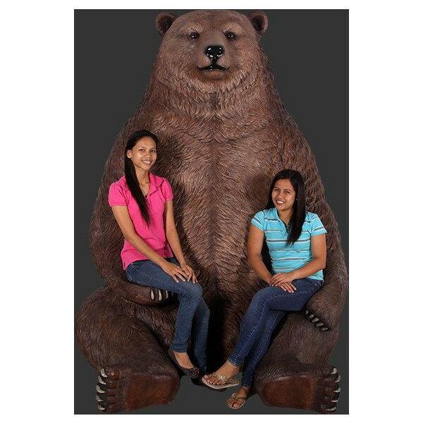 アニマルビッグフィギュアシリーズ【クマ(熊)・グリズリー ジャンボ(全長226cm)】(等身大フィギュア)