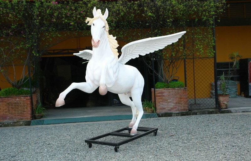 アニマルビッグフィギュアシリーズ【ホースwithウイング(羽馬)台座付き】(等身大フィギュア)