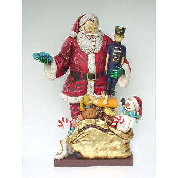 たくさんのプレゼントを見せる・サンタクロース(等身大フィギュア)