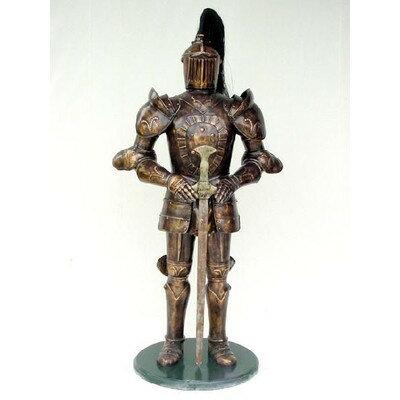 ナイト(騎士)・ブラウンゴールドアーマー(茶金甲冑) with ソード 等身大フィギュア