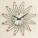 可愛らしいウォールクロック(壁掛け時計) 「サン 太陽」ピンク