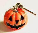 ハロウィンピアス 橙色のかぼちゃ/ジャックランタンのFDAピ...