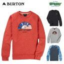 ショッピングバートン BURTON バートン Women's Oak Crew Sweatshirt 208291 ウーメンズ オーククルーフリース レギュラーフィット Dryride 速乾 サムホール ロゴ 2021冬 正規品