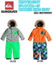 QUIKSILVER クイックシルバ− ジャンプスーツ ROOKIE KIDS SUIT EQKTS03001 100〜120 スノーボード ウェア 子供用 W...