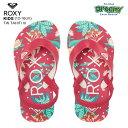 ROXY ロキシー TW TAHITI VI AROL100005 キッズ ビーチサンダル 12-16cm バックストラップ トロピカルプリント ロゴ ガールズ PIP 2021春モデル 正規品