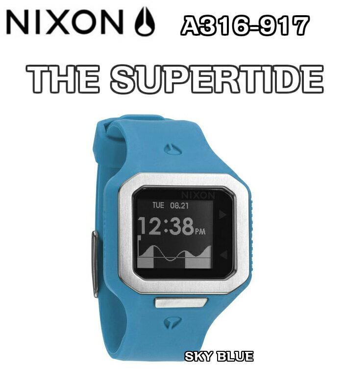 NIXON ニクソン THE SUPERTIDE スーパータイド A316-917 SKYBLUE 腕時計 正規品 ウォッチ タイドグラフ サーフィン 日本正規品・保証書付き