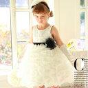 ティンクルブラックコサージュボリュームドレス(S号〜15号)子供ドレス 子供用ドレス こどもドレス ベビードレス 結婚式 発表会 コンクール