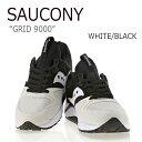 サッカニー スニーカー Saucony メンズ GRID 9000 グリッド9000 WHITE BLACK ホワイト ブラック S70077-37 シューズ