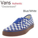 ショッピングVANS Vans Authentic オーセンティック Checkerboard / Classic Blue/White 【バンズ】【チェッカーボード】【VN04MKIC5】 シューズ