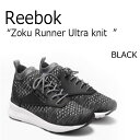 Reebok/ZOKU Runner Ultraknit Heathered/GREY/BLACK/¥°¥ì¡¼/¥Ö¥é¥Ã¥¯¡Ú¥ê¡¼¥Ü¥Ã¥¯¡Û¡ÚBD5487¡Û ¥·¥å¡¼¥º