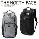 ショッピングリュック ノースフェイス バックパック THE NORTH FACE メンズ レディース M TRANSIT トランジット リュック MELANGE GREY BLACK グレー ブラック NM2DK06A/B バッグ 【中古】未使用品