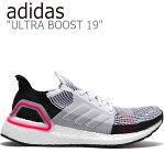 アディダス スニーカー adidas メンズ ULTRA BOOST 19 ウルトラブースト19 PINK ピンク WHITE ホワイト BLACK ブラック B37703 FLAD9F3M29 シューズ 未使用品