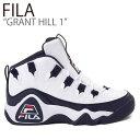 ショッピング厚底 フィラ スニーカー FILA メンズ GRANT HILL 1 グラントヒル 1 WHITE NAVY ホワイト ネイビー FS1HTB3420X シューズ