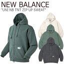 ニューバランス パーカ NEW BALANCE メンズ レディース UNI NB TNT ZIP UP SWEAT ニューバランス × ディスイズネバーザット ジップアップ スウェット 全3色 NBMDA2L113 ウェア 【中古】未使用品