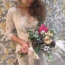 ウエディングドレス スレンダー フィッシュテール 前撮り 後撮り 披露宴 結婚式 演奏会 発表会 Aライン Vネック ロング セミオーダー ビーチフォト パーティー かわいい
