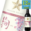 サッポロ グランポレール スタンダードシリーズ エスプリ ド ヴァン ジャポネ 絢-AYA- (赤) 750ml瓶 x12本ケース販売 (国産ワイン) (赤ワイン) (ライト) (SP)
