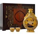 日和商事 越王台陳年 30年 花彫酒 壷 600ml瓶 x4本ケース販売 (紹興酒) (中国酒)
