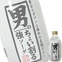 (単品) 木村飲料 男のちょい割る 強ソーダ 300ml瓶 (割り材) (炭酸水)