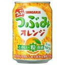 【送料無料】サンガリア つぶつぶみ オレンジ 280g 1ケース24本×3ケース(72本)