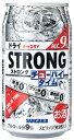 サンガリア ストロング チューハイタイム ゼロ ドライ 340ml缶 1ケース24本