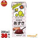 キッコーマン 豆乳飲料 あずき 200ml×18本×2箱(36本)【梱包C】