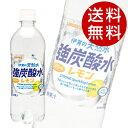 サンガリア 伊賀の天然水強炭酸水レモン 500ml×48本 ...