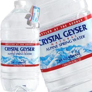 クリスタルガイザーガロンサイズ 3.78LPET×6本,ミネラルウォーター,貯蓄用水,保存水,防災用品