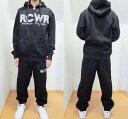 【送料無料】AK99)ROCAWEARスウェットセットアップ 黒☆B系カジュアルストリート