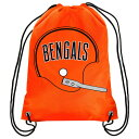 BAG80)Forever Collectibles NFL Cincinnati Bengals Retro Drawstring Bac...