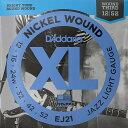 【DT】D'Addario EJ21 Nickel Wound 3弦ワウンド 012-052 ダダリオ エレキギター弦