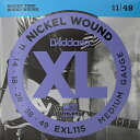 【DT】D'Addario EXL115 Nickel Wound 011-049 ダダリオ エレキギター弦