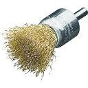 ショッピングブラシ LESSMANN LESSMANN 軸付エンド型ブラシ 高張度真鍮波線0.25 Φ17 452751
