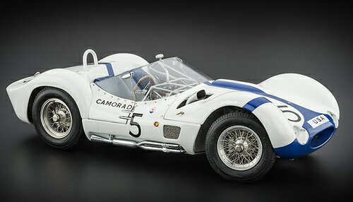 """CMC 1:18 1960年 マセラティ TIPO 61 No.51960 Maserati Tipo 61 """"Birdcage"""" #5 Nurburgring Winner Dan Gurney and Stirling Moss 1/18 Diecast Model Car by CMC"""