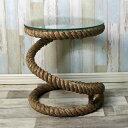 Table rope w glassplate ガラステーブル ドイツ・Seaclub シークラブ マリン マリンテイスト テーブルマリン風
